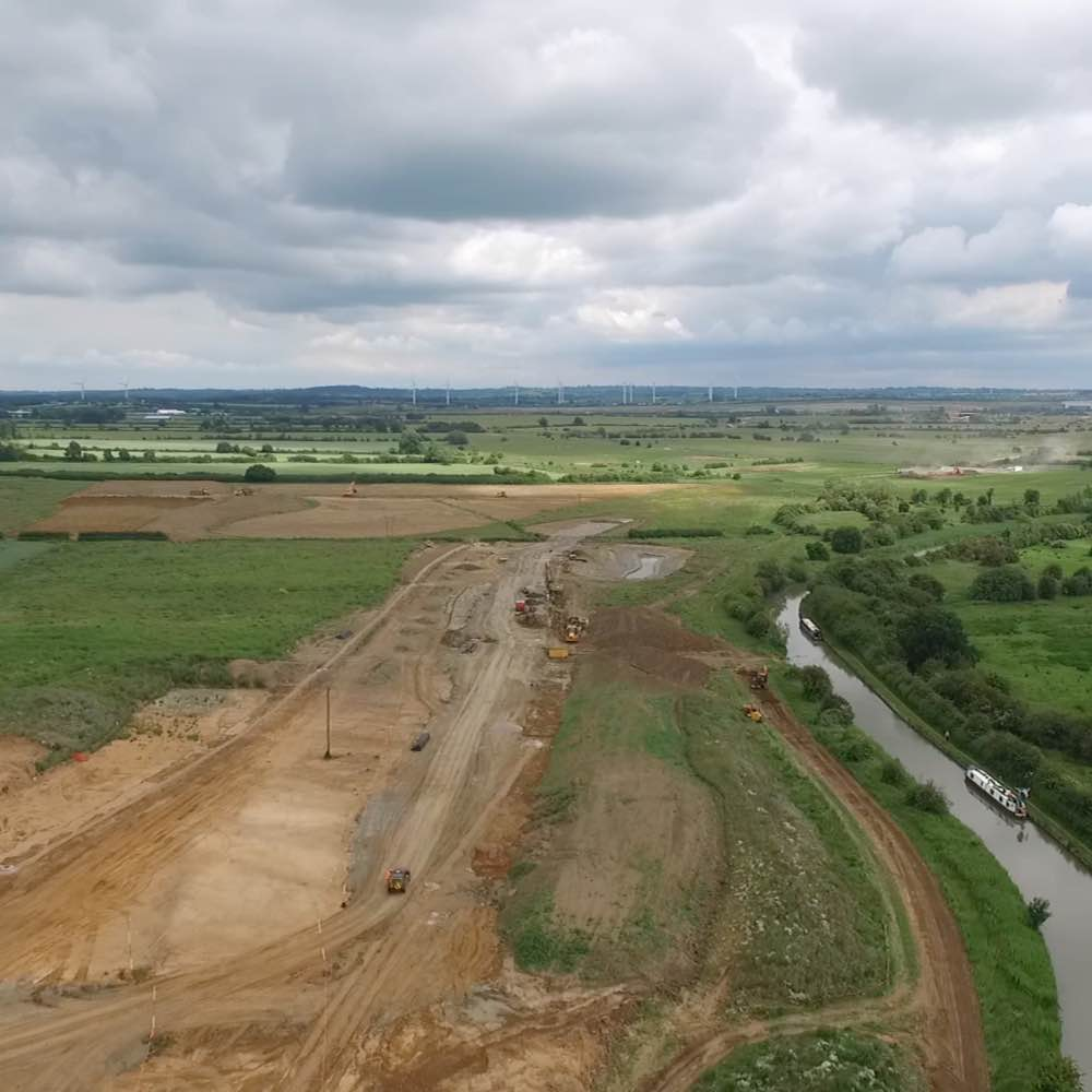 The link road at Houlton takes shape
